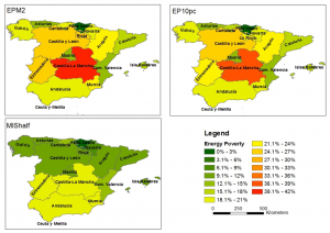 Energy poverty in Spain (comparing three metrics). Source: Final Report.