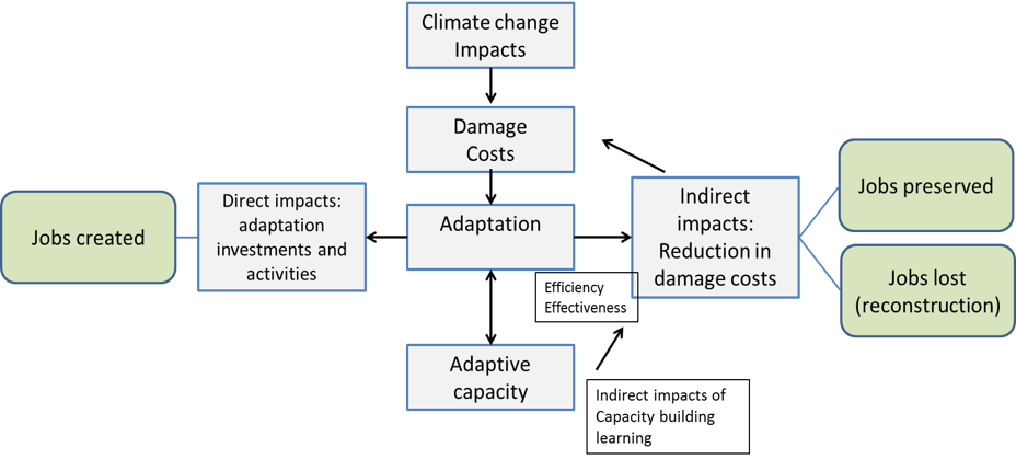 Economic implications of climate change adaptation. Source: own analysis.