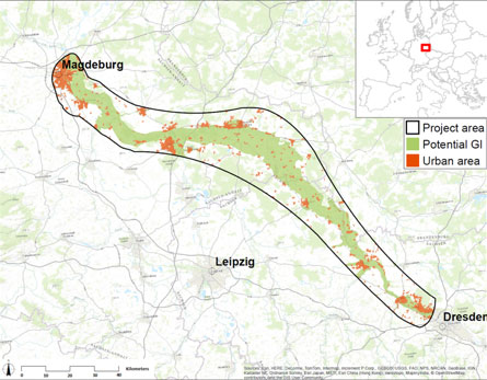 Potential for additional floodplains on the Elbe, Germany (selected stretch)